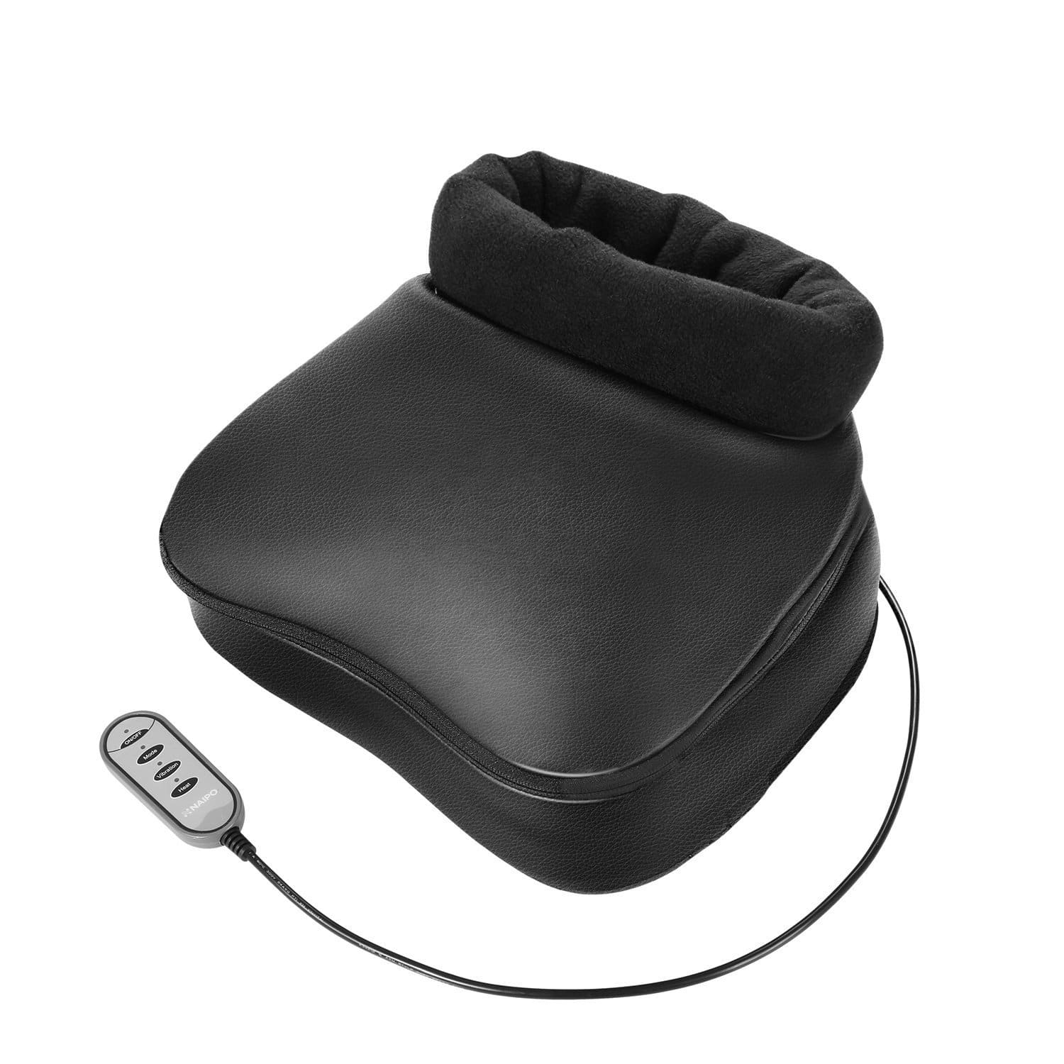 FOOT & BACK MASSAGER WITH HEAT, SHIATSU, DEEP KNEADING AND VIBRATION.
